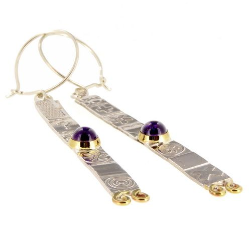 Matching extra long silver earrings